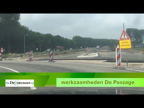 VIDEO | Het eerste stukje asfalt van de nieuwe Passage Dronten ligt er