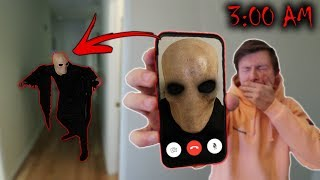 CALLING THE SCARY MONSTER ON FACETIME AT 3 AM!! (HE CAME AFTER US!!!)