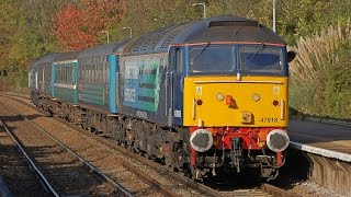 preview picture of video 'DRS 47818+47828 Greater Anglia Short Set (+ Anglia coach)'