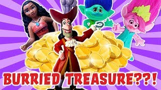 LOL Dolls and Trolls Buried Treasure Mission! Featuring Captain Hook and Princess Moana!