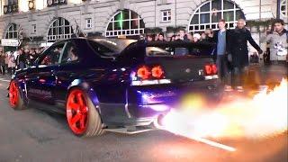 Kream Developments Nissan Skyline GTR - Burnouts, Flames and LAUNCH!