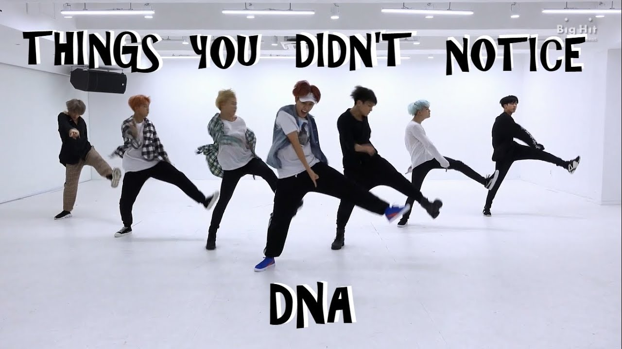 Download BTS THINGS YOU DIDN'T NOTICE IN DNA DANCE PRACTICE
