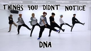 BTS THINGS YOU DIDN'T NOTICE IN DNA DANCE PRACTICE
