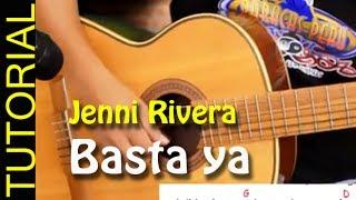 Como tocar Basta ya en Guitarra - Jenni Rivera acordes letra