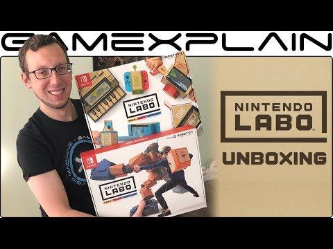 Nintendo Labo UNBOXING - Variety & Robot Kits! (+ Livestream Announcement)