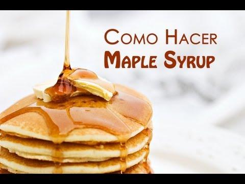 Como Hacer Sirope de Arce o Maple Syrup
