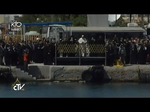 Le Pape rencontre la population de Mytilène et la communauté catholique