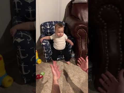 First steps for Daddy's birthday