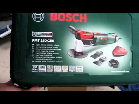 Unpacking / unboxing Multifunction tool Bosch PMF 250 CES 0603100670