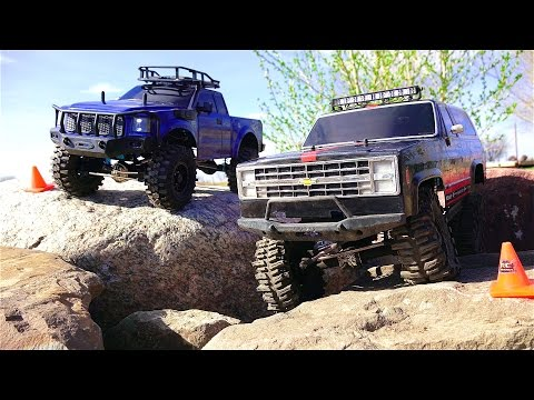 RC ADVENTURES - Vaterra Ascender 4x4 Vs G-Made Komodo 4x4 - Chevy K5 Blazer Vs Ford?