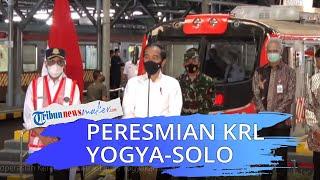 KRL Yogyakarta-Solo Diresmikan, Jokowi: Lebih Cepat dari Prameks dan yang Penting Ramah Lingkungan