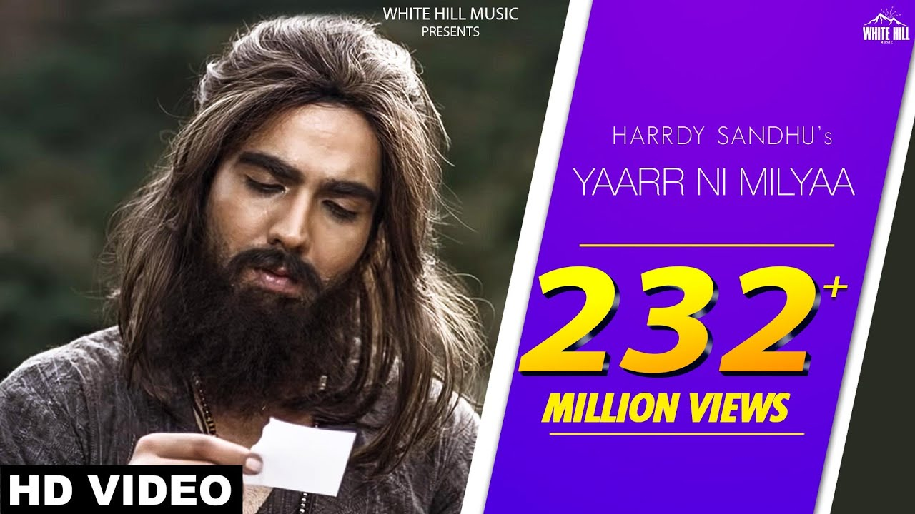 Yaar Ni Milya Lyrics| Harrdy Sandhu Lyrics