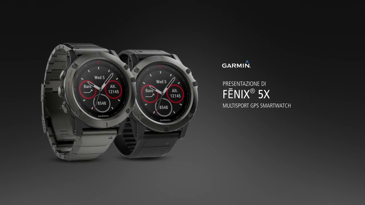 Garmin Fenix 5x Sapphire Gps Sport Watch Grey Black