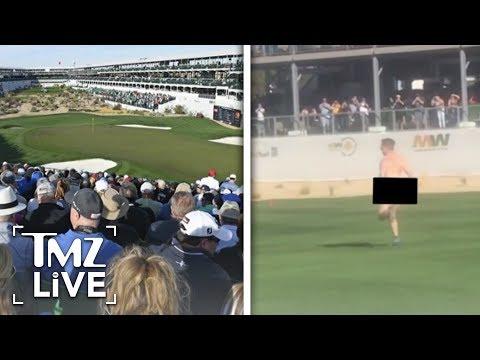 [TMZ]  Golf Streaker Steals The Show!