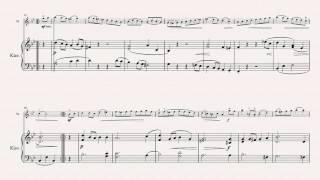 J.S. Bach - Bourrée - for Violin (simplified Piano score)