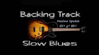 OLD AND SLOW BLUES IN E BACKING TRACK