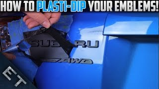 How To Plasti Dip EmblemsBadges On Your Car | Step By Step Guide