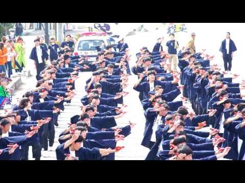川越砂中学校 樫童 in つるせよさこい祭り 2016