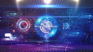 Artificial Intelligence Hi-Tech futuristic technology background video | Royalty Free Footages