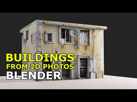Building from 2D photos | Blender