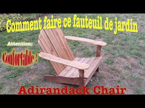 Comment faire un fauteuil de jardin très confortable