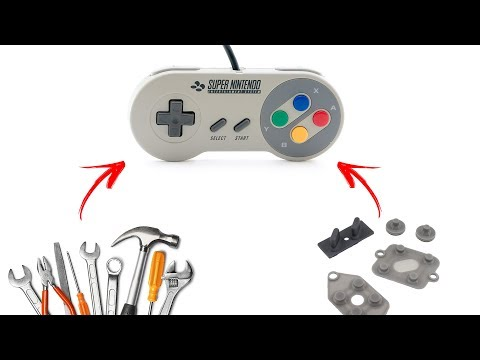 Como consertar o seu controle de Super Nintendo (SNES)! Reparo nos botões [TUTORIAL]