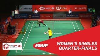 QF | WS | TAI Tzu Ying (TPE) [1] vs Ratchanok INTANON (THA) [6] | BWF 2019