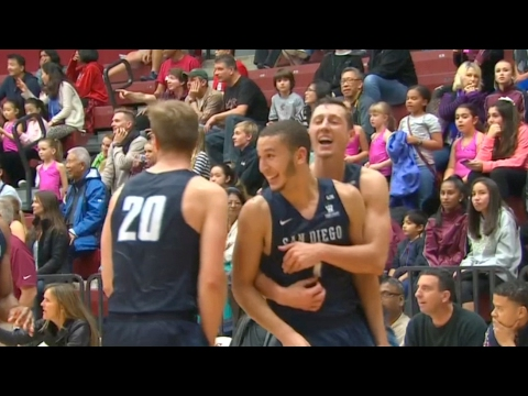San Diego's Tyler Williams Hits Game-Winner at the Buzzer in Double-Overtime