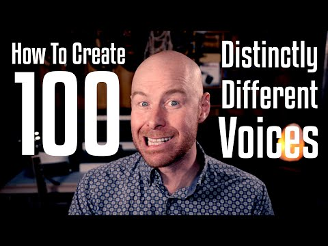 How To Create 100 Distinctly Different Voices