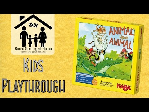 BoardGamingAtHome Kids Playthrough of Animal upon Animal