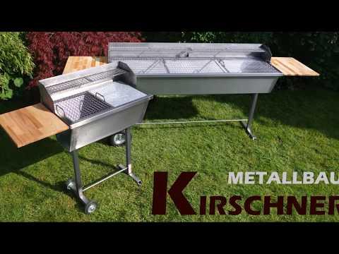Kirschner Metallbau Edelstahlgrill Edelstahl Grill XXL BBQ Holzkohlegrill Gastrogrill Gastronomie