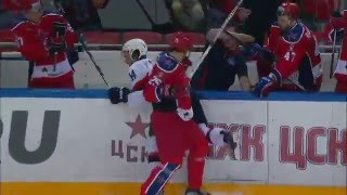 Radulov jumps to the rumble with no call indicated