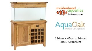 Aqua Oak 110cm 'Wine Rack' Aquarium and Cabinet (AQ110WR)