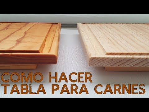 Como Hacer Una Tabla Para Carnes Paso a Paso | How to Make a Cutting Board Step By Step