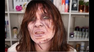 Scary Exorcist Halloween Makeup