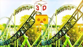 3D Roller Coaster W VR Videos 3D SBS [Google Cardboard VR Experience] VR Box Virtual Reality Video
