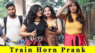 Train Horn Prank On Girls || Prank In India 2018 || Funday Pranks Ft TCI