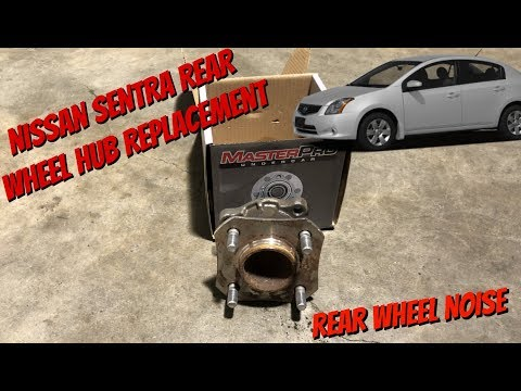 How To Replace Rear Wheel Bearings Hub On A Nissan Sentra 07-12