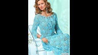 Вязаное Платье Крючком для Женщин 2017 / Knitted Hook Dress for Women / Strickkleid Haken für Frauen