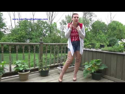 Vanilla Fudge Leather High-Rize Thigh Boots by LeviTicus Fashions on Memorial Day