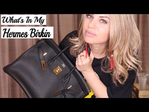 What's In My Hermes Birkin? Black Togo w/Gold