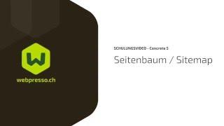 Seitenbaum / Sitemap in Concrete5 (deutsch) - webpresso.ch
