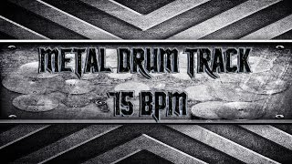 Black Sabbath/Doom Metal Drum Track 75 BPM (HQ,HD)