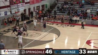 SHS Basketball   vs Heritage
