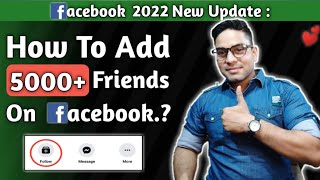What to do after 5000+ friends on facebook | how to use follow button on facebook | Fb par 5000