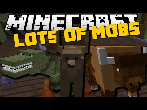 Minecraft: LOTS OF MOBS MOD (Whales, Lions, Dinosaurs & More) Mod Showcase