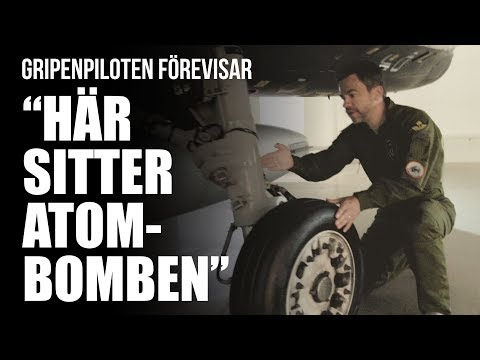 Swedish fighter pilot demonstrate the Gripen Figher plane and it´s functions (enable subtitles)