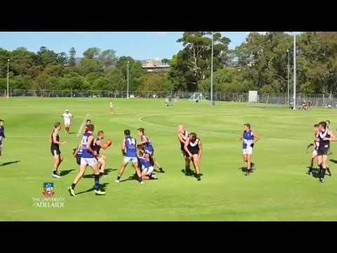 Our inter-varsity footy match with the University of Melbourne!
