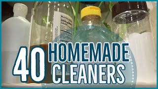 DIY Cheap And EASY Homemade Cleaners! | 40 Ways To Use 4 Simple Ingredients