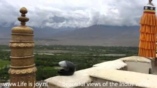 preview picture of video 'Himalaya road trip part 9 Thiksey monastary to Tso Kar Lake Ladakh on Royal Enfield motorbikes'